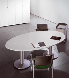 ישיבות אובלי רגלי פיצה - שולחנות משרדיים שולחן משרדי