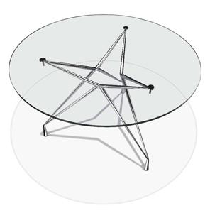 ישיבות זכוכית עגול - שולחנות משרדיים שולחן משרדי