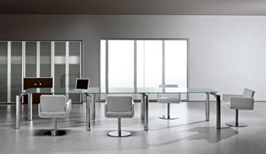 ישיבות זכוכית  דגם MUST - שולחנות משרדיים שולחן משרדי