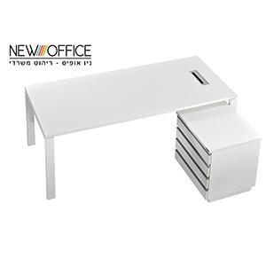 מנהלים blanco milan copy - שולחנות משרדיים שולחן משרדי