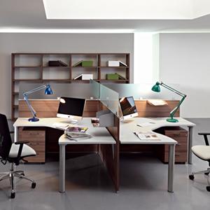 משרדי מחיצות open space copy - שולחנות משרדיים שולחן משרדי