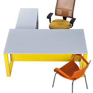 צהוב copy - שולחנות משרדיים שולחן משרדי