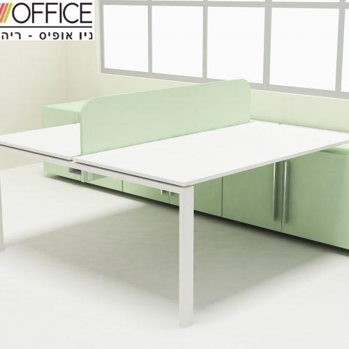 לשני עובדים 500x500 - שולחנות משרדיים שולחן משרדי