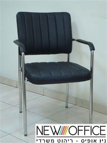 4 שחור - כסאות אורחים