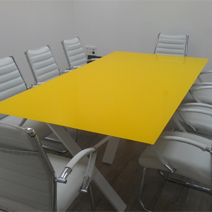 שולחן ישיבות זכוכית- דגם wix