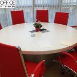 שולחן ישיבות עגול 150x150 - ריהוט משרדי